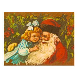 Vintage Postcard of Santa