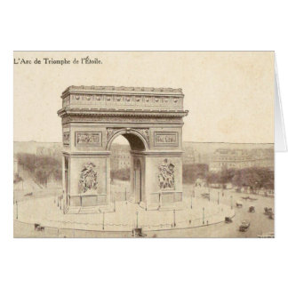 Vintage Postcard of the Arc de Triomphe de l'Etoil