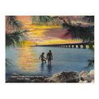 Vintage Postcard Overseas Highway Florida Keys