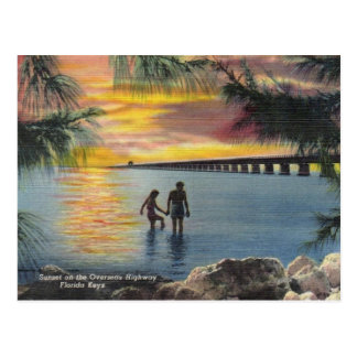 Vintage Postcard Overseas Highway Florida Keys