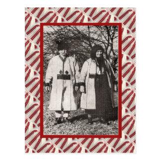 Vintage, postcard, Peasant Couple 1905 Postcard