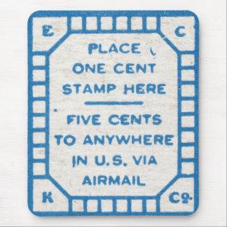 Vintage postcard postage stamps mousepad