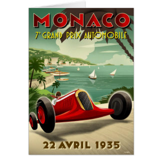 Vintage Postcard With Racing Sport Poster Print