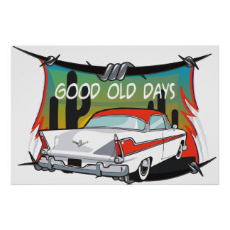 Vintage Poster 1957 Plymouth Fury