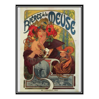 Vintage Poster Alphonse Mucha Beer Ad Posters