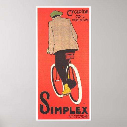 Vintage Poster Art - Simplex Bicycles