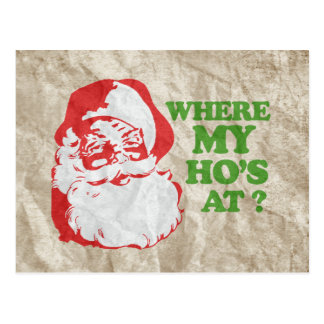 VINTAGE POSTER Backing WHERE MY HO S AT VINTA Postcard