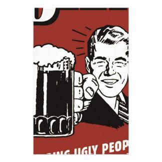 Vintage poster: beer since 1862 stationery