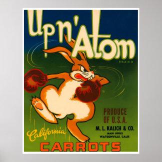 Vintage Poster California Carrots Food Ad Print
