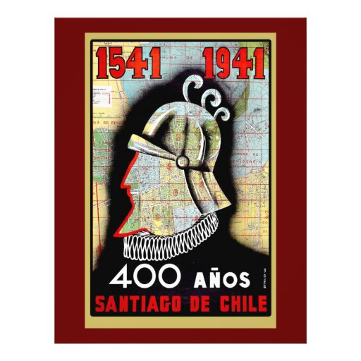 Vintage Poster Celebrating Chile Personalized Flyer