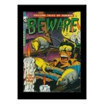 Vintage Poster Comic Book Covers Beware