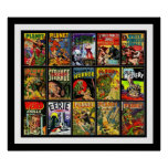 Vintage Poster Comic Book Covers Collage 15A