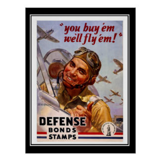 Vintage Poster Defense Bonds Patriotic Posters