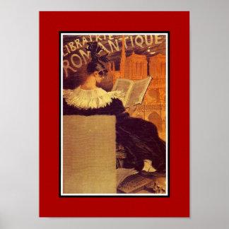 Vintage Poster Famous Artists Librairie Romantique Print