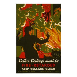 Vintage Poster - Fire Safety - POSTER
