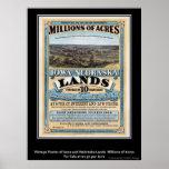 Vintage Poster Iowa/Nebraska Land Sale