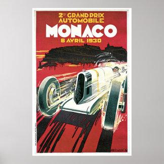 Vintage Poster Monaco 1930