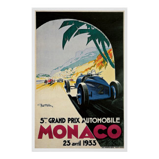 Vintage poster Monaco Grand Prix 1933
