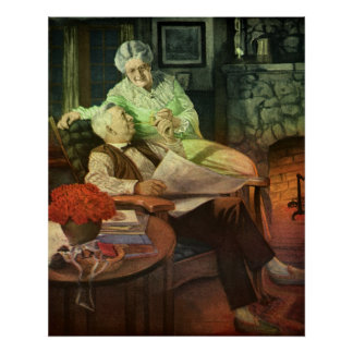 Vintage Poster - Old Couple