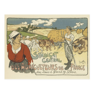Vintage Poster Postcards - Farmers