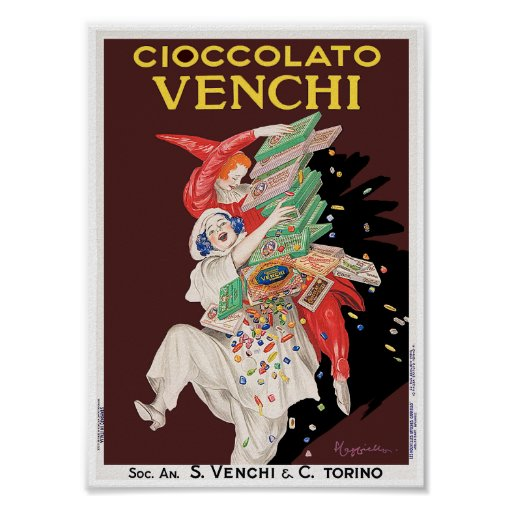 Vintage Poster Print: Cioccolato - Chocolates