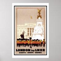 Vintage Poster Print London By L.N.E.R