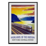 Vintage Poster Print New York Hudson Train