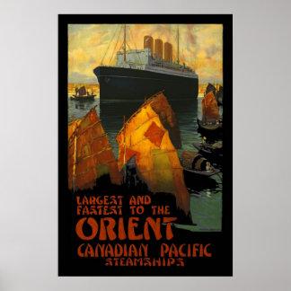Vintage Poster Print Orient SteamShip