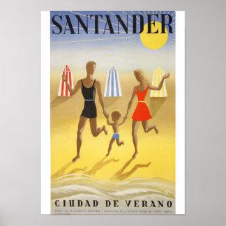 """Vintage poster: """"Santander, City of Summer """" Poster"""
