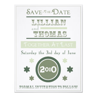 Vintage Poster Save the Date soft ocean 11 Cm X 14 Cm Invitation Card