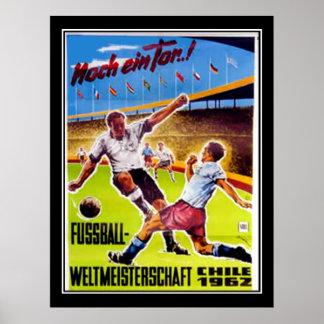 Vintage poster Soccer retro