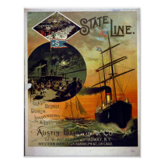 Vintage Poster, State Line Shipping Company Poster