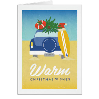 Vintage Poster Warm Summer Christmas Card
