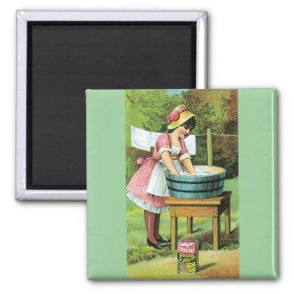 Vintage Poster - Wash Day Magnet