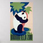 Vintage Posters,Brookfield Zoo Panda Bear WPA