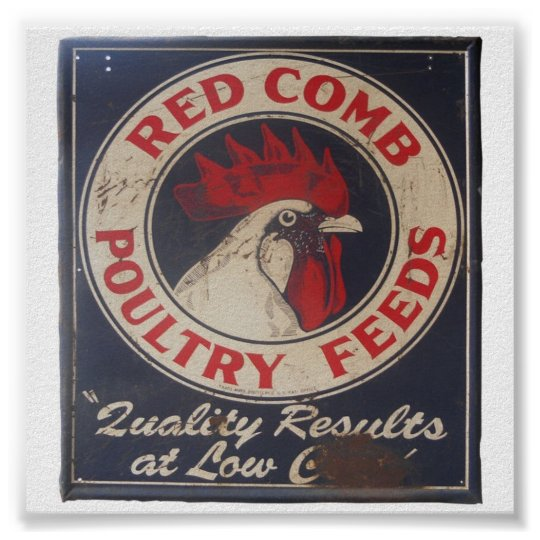 Vintage Poultry Feeds Sign