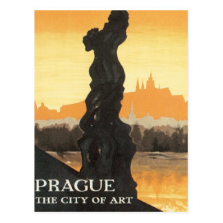 Vintage Prague Czechoslovakia Postcard