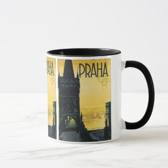 Vintage Prague (Praha) Poster Mug
