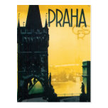 Vintage Prague (Praha) Poster Postcard