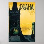 Vintage Prague (Praha) Travel Poster