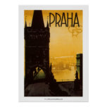 Vintage Praha Poster