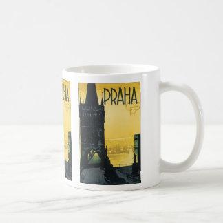 Vintage Praha Poster Basic White Mug