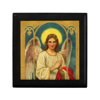 Vintage Praying Angel Red Yellow Jewelry Boxes