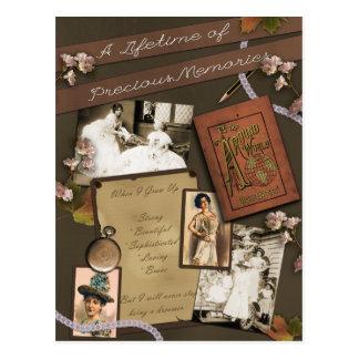 """Vintage """"Precious Memories"""" Scrapbook Postcard"""