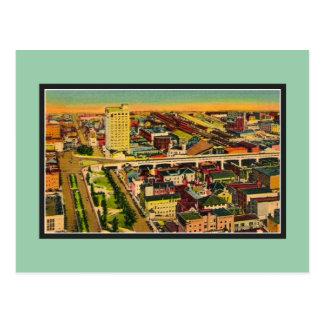 Vintage Preston Gardens Baltimore MD Postcard