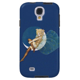 Vintage Pretty Blue Fairy Stockings Blue Moon Galaxy S4 Case
