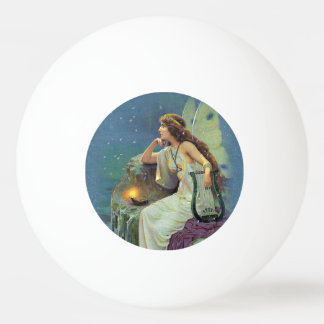 Vintage Pretty Fairy Fae Harp Candle Ocean Ping Pong Ball