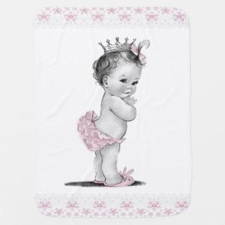 Vintage Princess Baby Blankets
