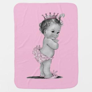 Vintage Princess Baby Pink Baby Blanket