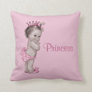 Vintage Princess Baby Pink Cushion